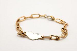 bracelet coeur et diamant